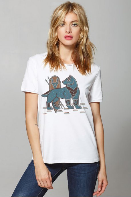 Women's t-shirt with Steel Wolf
