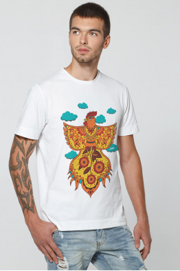 "Men's T-Shirt ""Fire Rooster"""