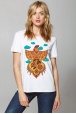 Women's T-Shirt with Fire Rooster Print