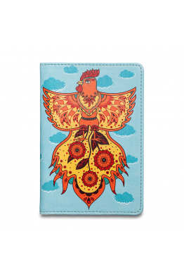 "PASSPORT COVER ""GALLO DI FUOCO"""