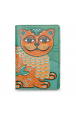 Eco-leather passport cover with cat