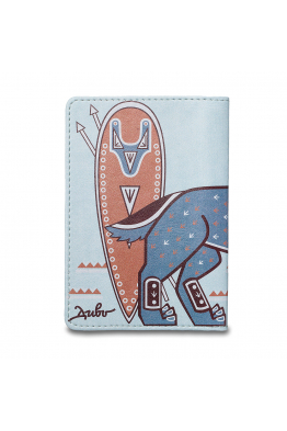 "Passport Cover ""Steel wolf"""