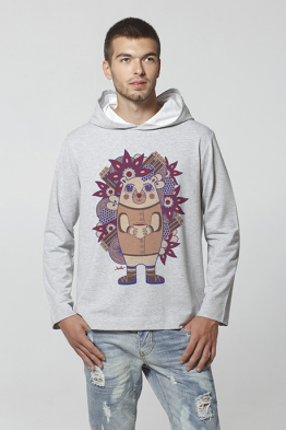 "Men's Hoodie ""The hedgehog Ghluti"""