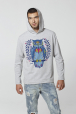 Men's hoodie with owl print