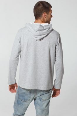"Men's Sweatshirt Hoodie ""Cornflower Raccoon"""