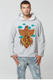 Men's Hoodie with Rooster