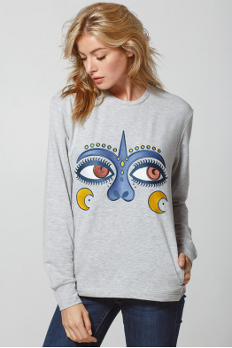 "Women's Sweatshirt ""Dyvooo-Eyes. Enchanted love"""
