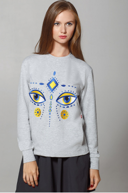 "Women's Sweatshirt ""Dyvooo-Eyes. Fabulous Deer"""