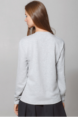 "Women's Sweatshirt ""Dyvooo-Eyes. Baroque Ermine"""