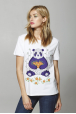 "Women's T-Shirt "" Panda with mandarins"""