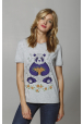 "T-shirt ""Panda with mandarins"""