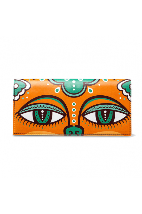 Ticket case with eyes of emerald cat