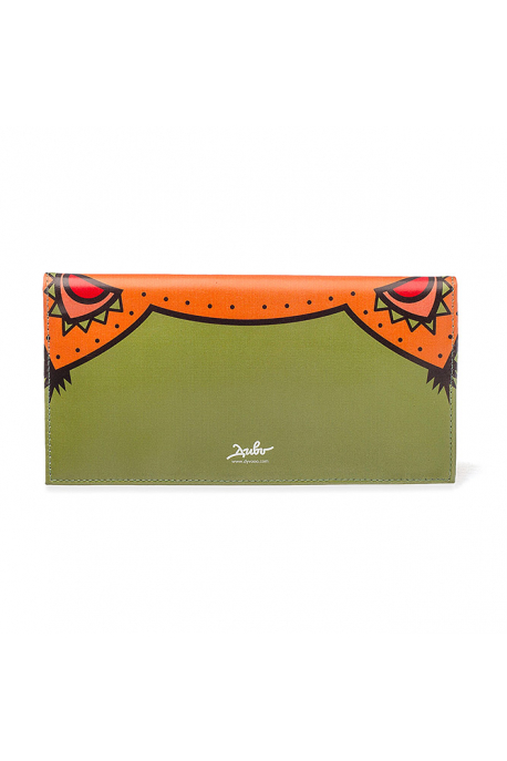 "Leather wallet Dyvooo look ""Little fox's sleeping"""
